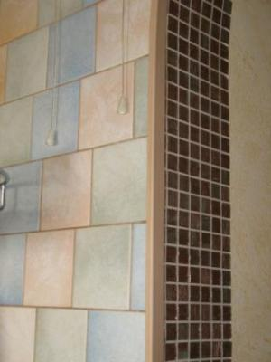 Пример дверной арки из мозаики