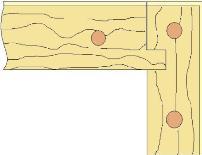 Пример соединения в шип