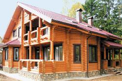 Деревянный дом из оцилиндровки