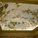 фото художесвтенные натяжные потолки