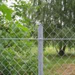 фото - забор из сетки рабицы